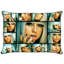 Sexy Lady Gaga Poker Face Pillow Case Cover Hot Lady Gaga Pillowcase Custom Pillowcover Rectangle Bedding Gifts Two Sides 20x30