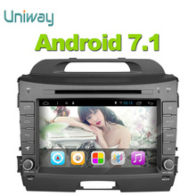 uniway 2G+32G 2 din android 7.1 car dvd for kia sportage 2014 2011 2009 2010 2013 2015 car radio stereo multimedia player(China)