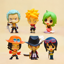 1pcs Anime One Piece Figure Cute Keim Smoker Tashigi Mihawk Ace Marco Mini PVC Action Figures Toys Collectible Model Toy Gift