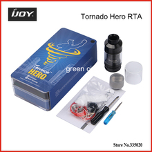 Original IJOY Tornado Hero RTA Side-filling Sub ohm Tank 5.2ml Adjustable Kennedy-style Airflow Side Filling Clearomizer