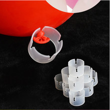 balloon plastic clip 50pcswedding balloon arches buckle, celebration arches opening bracket ,balloon modeling accessories buckle(China)