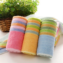 1pcs Colorful Rainbow 32*72cm jacquard Soft Face Towel Cotton Hair Hand Bathroom Towels badlaken toalla Toallas Mano Gift  42011