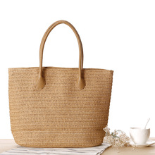 New Summer Fashion Shopping Tote Beach Bag Straw Tote Bag Summer Shoulder Bag Designer Vintage Woven Shopping Hand Bags H284