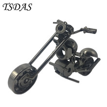 Free Shipping Metal Model Motorcycle Style Wrought Iron Crafts Toys For Man's Gift 1pc