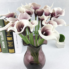 APRICOT 1pcs Artificial flowers PU Real Touch 9colors Mini Calla Lily for wedding decoration party supplies