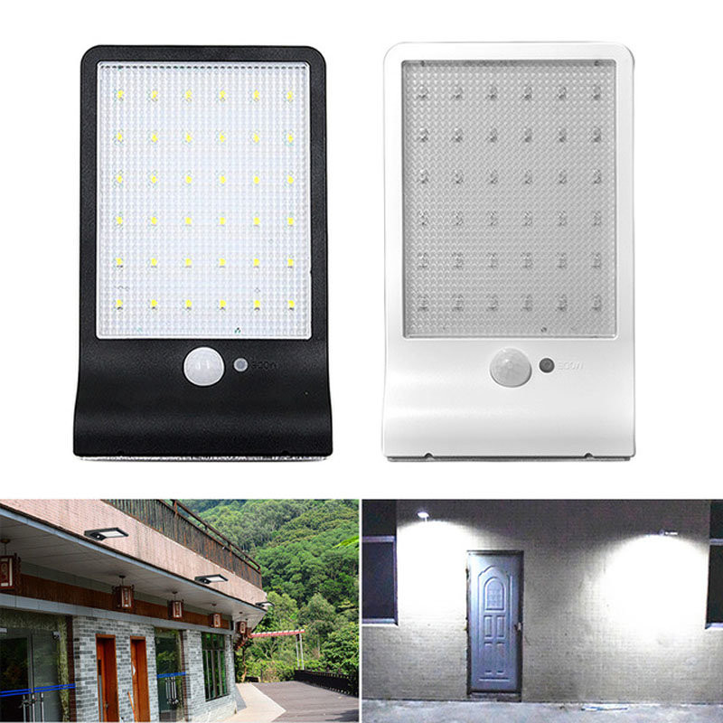 Newest 450LM 36 LED Solar Power Street Light PIR Motion Sensor Lamps Garden Security Lamp Outdoor Street Waterproof Wall Lights(China (Mainland))