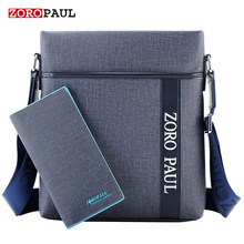 ZOROPAUL 2017 Men Brand Leather Shoulder Bag and Purse Male Casual Business Satchel Messenger Bag Vintage Men's Crossbody Bags