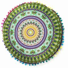 Attractive Multifunctional Traditional Comfortable Fashional Hot Throw Indian Mandala Floor Round Bohemian Cushion Pillows(China)