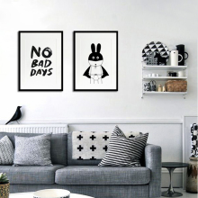 Canvas Art Super Hero, No Bad Days Quotes Pop Art Oil Painting by Numbers Picture Posters and Prints Wall Art Kids Room No Frame