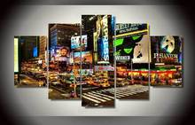Unframed Modern Paintings New York Times Square Canvas Painting On The Wall Pictures For Living Room Wall Art Modular Pictures(China)
