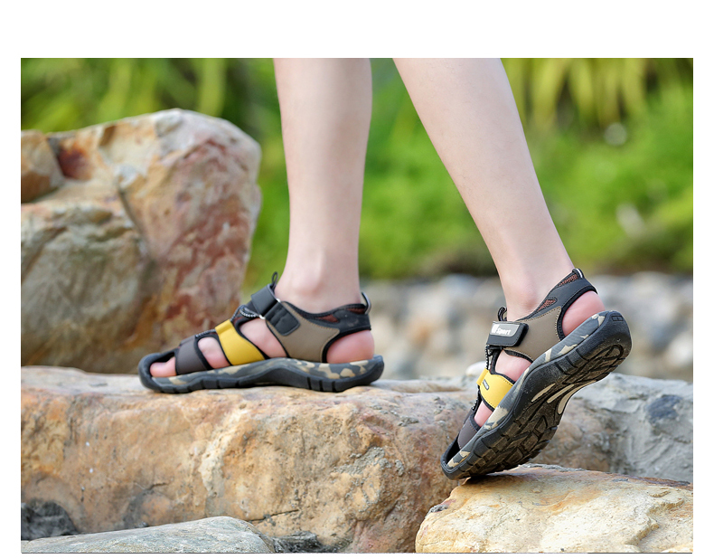 Leader Show Men Fashion Casual Shoes Summer New Adult Outdoor Beach Shoes High Quality Comfortable Man Baotou Sandals Breathable 19 Online shopping Bangladesh