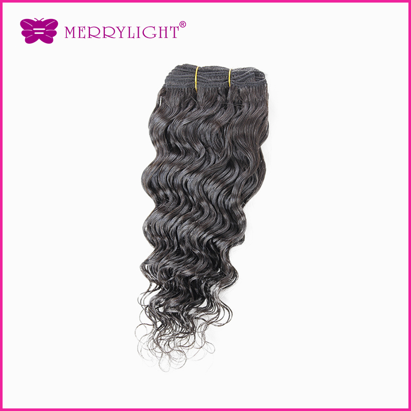 Deep wave brazilian curly virgin hair 1pcs/lotkinky curly virgin hair no shedding no tangle Merrylight  hair store free shipping<br><br>Aliexpress