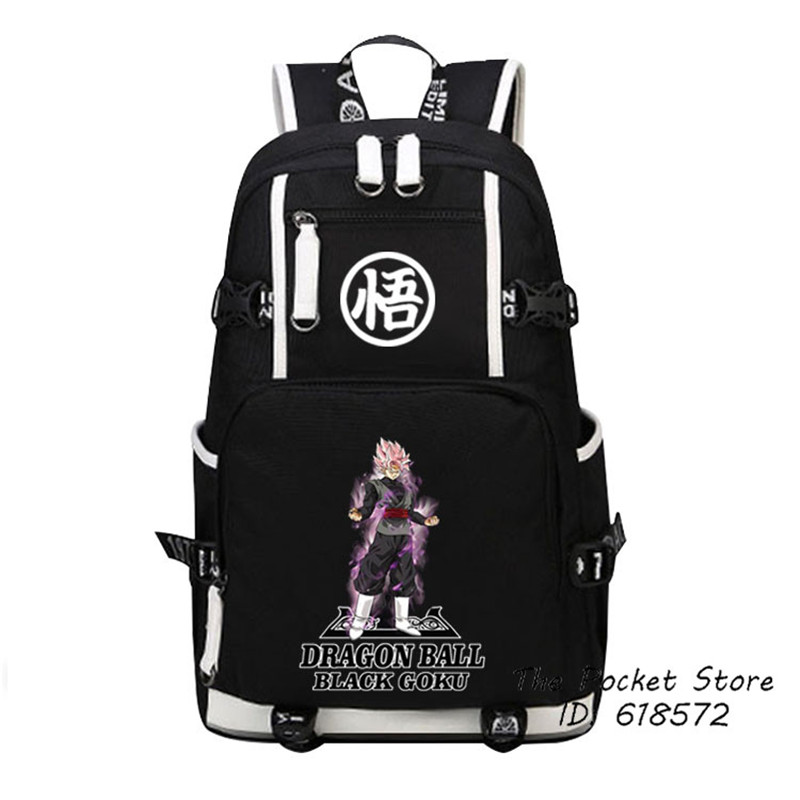 2017 New Hot Japanese Anime Dragon Ball Super Goku Black Zamasu Cosplay Printing Backpack Canvas School Bags Laptop Backpack<br>