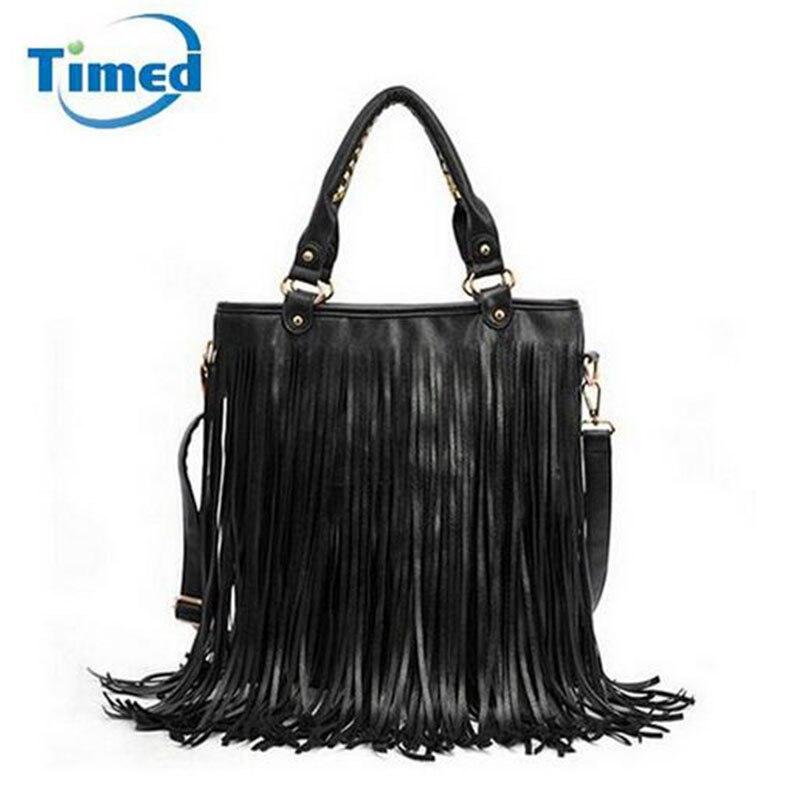 Women Pu Leather Tassel Handbags 2017 New Fashion Messenger Bags Large Capacity Shoulder Bag Ladies Vintage Bags Hot Sale<br><br>Aliexpress