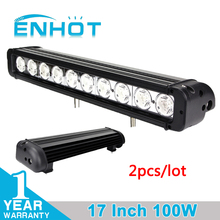 ENHOT 2pcs 17 INCH 100W CREE CHIP LED LIGHT BAR LED DRIVING LIGHT COMBO BEAM FOR OFFROAD TRACTOR ATV 4x4 SUV SAVED ON 120W