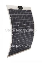 40w  18v semi-flexible mono solar panel kit for yacht boat RV camping,adventure  12v battery charger