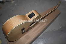 2015 new wholesale  Pete Townshend signature  natural Tiger stripes Electric Acoustic Guitar  with fishman Pickup  1112
