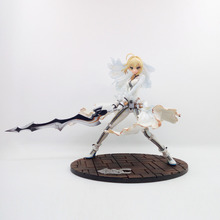 Anime Figure 22CM Fate Stay Night CCC Wedding Dress Ver. Saber Bride PVC Action Figure Collectible Model Toy Gift(China)