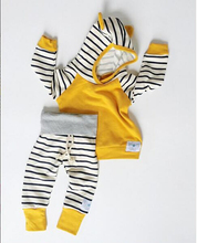 Newborn Kids Baby Boys Clothing Outfits 2pcs hooded Tops+Pants Baby Boy Clothes set Hoodies Tracksuit Set 0-3T(China)