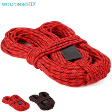 WOLFONROAD 10m/lot 8mm Rock Climbing Auxiliary Rope Safety Survival Rope Outdoor Camping Hiking Rope Outdoor Rope L-XDQJ-129(China)