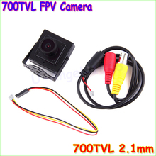 Wholesale 1pcs Mini HD 700TVL 2.1mm Wide Angle Lens CCTV Security FPV Camera PAL NTSC Dropship(China)
