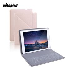 Witsp@d Ultra Slim PU Leather Bluetooth Keyboard Wireless Case Stand Cover For iPad Air 2 Tablet For Android Bluetooth Mobile(China)