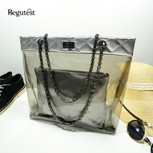2017 ew Transparent Child Beach Bag Shoulder Chain Bags For Women Messenger Bag Summer Fashion Ladies Crystal Bag For Women
