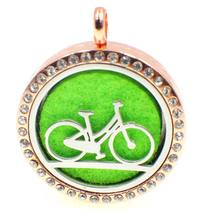Stainless Steel Bicycle Pendant Perfume Bottle Necklace Sporty Jewelry for Women Personality Cloth Accessories