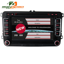 Bonroad 2 Din stereo navigation System For vw Seat Polo Bora Golf Jetta Tiguan Leon Skoda dvd 3G GPS Bluetooth Radio phone link