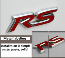 Car Styling RS Emblem Badge Trunk Sticker For Chevrolet Cruze 2013 Spark Onix Silverado Volt Camaro Aveo Accessories