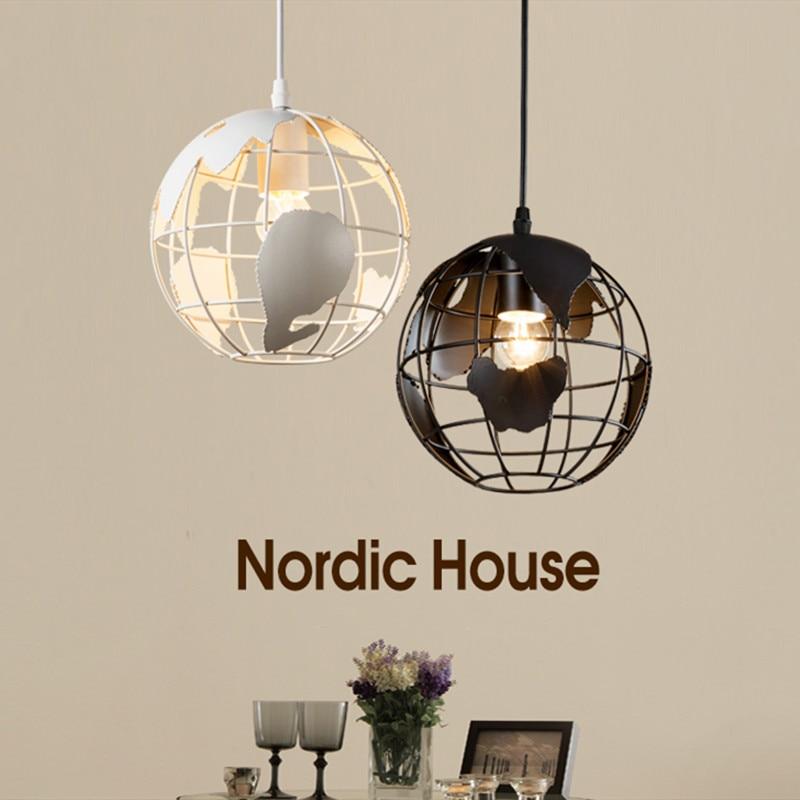 Modern minimalist globe E27 LED bulb chandelier lamp Nordic creative home deco restaurant bar iron chandelier light fixture<br>