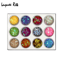 Nail DIY jewelry factory direct premium real nail pierced hearts and hearts of hearts 12 color sequins