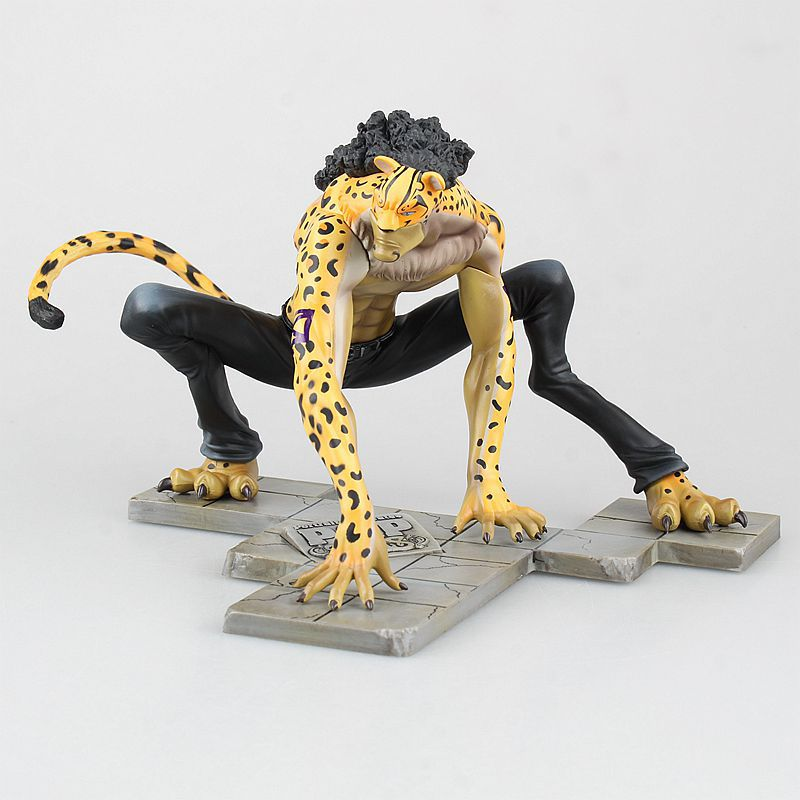 Anime One Piece Action Figure Rob Lucci POP CP9 Cheetah 1/8 Scale Prepainted PVC Figure Doll Collection Model Toys 15cm<br>