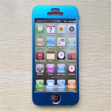 Front and Back Aluminium Skin Case Matte Metal Case Cover Sticker Case for iPhone 5 5G 5S SE 5SE Sky Blue