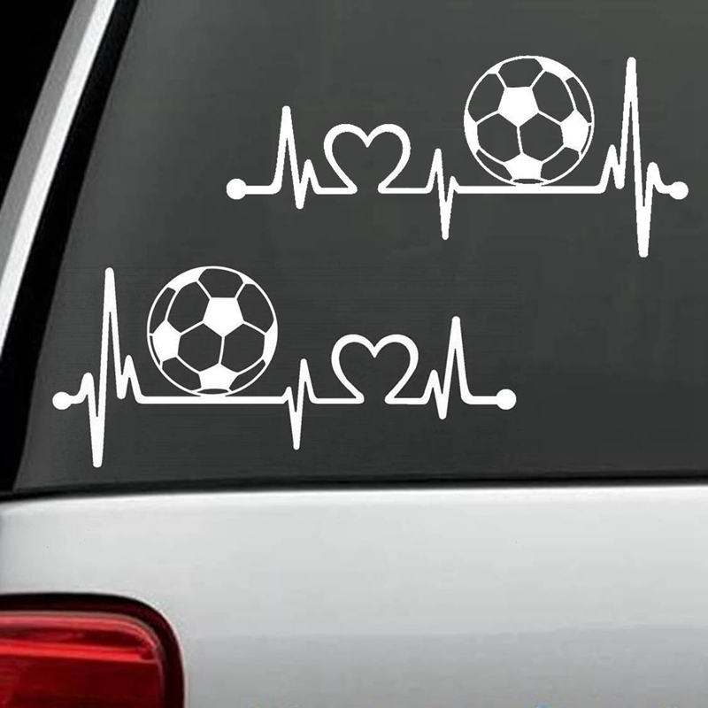 Pulse Blood Heart Football Player Sticker Sports Soccer Car Decal Helmets Kids Room Posters Vinyl Wall Decals Football Sticker