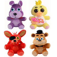 Five Nights At Freddy Plush Freddy Bear Foxy Rabbit Duck Kawaii Plush Toys Freddy Toys FNAF Children Gift(China)
