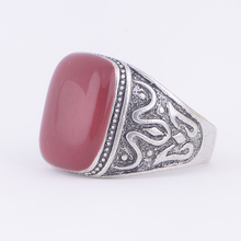 STOCK 2016 high quality Antique silver plated red stone Ring for women free samples wholesale