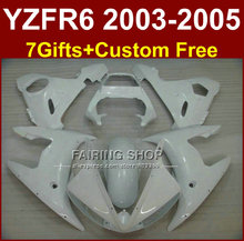 DEW white body repair parts for YAMAHA R6 fairing kit 03 04 05 fairings YZF R6 2003 2004 2005 Motorcycle sets WI7