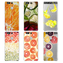 Case for huawei p9lite silan orange painting design fruit cute pattern production for huawei ascend p9 lite tpu cases