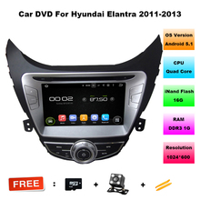 Android 5.11 Car DVD Player For Hyundai Elantra 2011 2012 2013 with GPS,Ipod,WIFI,Radio,vedio, 3G,Bluetooth,Touch Screen