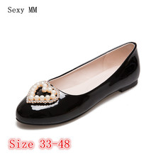 Slip On Shoes Loafers Girl Ballet Flats Women Flat Shoes Soft Comfortable Shoes Woman Plus Size 33 - 40 41 42 43 44 45 46 47 48(China)
