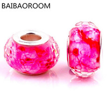 1PCS Red Pattern Resin Beads Diy Jewelry Accessoreis Fit for Pandora Beaded Bracelet