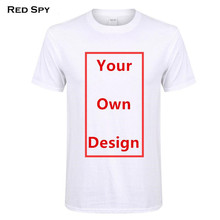 RED SPY Summer Cotton T shirt Men Customized Men's T shirt Print Your Own Design High Quality Send Out In 3 Days(China)