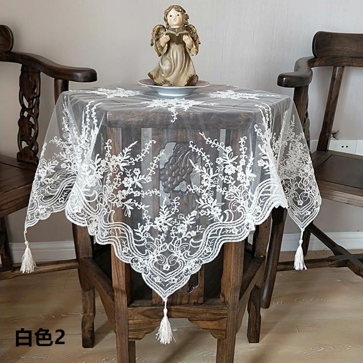 Luxe NAPPE BRODERIE DENTELLE table basse noir Housse tissu paillettes decor