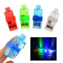 Hot Selling 40pcs Multi-color Bright LED laser Finger Ring Light Lamp Beams Torch For Party KTV Bar Gadgets Kids Toy gift