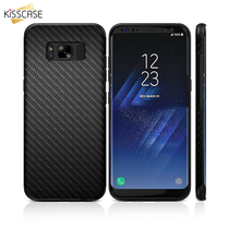 KISSCASE Retro Cover Carbon Fiber Phone Cases For Samsung Galaxy S8 S8 Plus TPU Case Samsung Galaxy s8 Plus case Luxury Funda