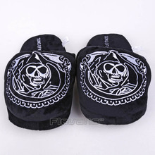 Fashion Cool Skeleton Sons of Anarchy Adult Plush Slippers Soft Toys Shoes Home House Winter Indoor Slippers(China)