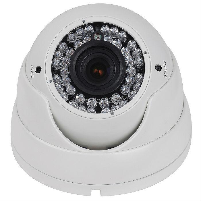 China Top 10 CMOS Night Vision 1200TVL Metal Dome Surveillance CCTV Camera System 2.8-12mm Varifocal Lens<br>