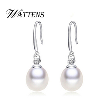 WATTENS ANGEL TEARS Natural Pearl Drop Earrings Cultured Freshwater Pearls with Earrings new Fashion
