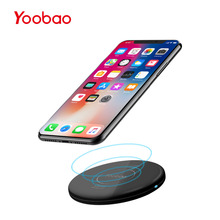 Yoobao D1 Mini Wireless Charger QI Charging Pad Waterproof Mobile Phone Charger for Samsung Edge S7 S7 Edge LG Nokia iPhone 10 8(China)